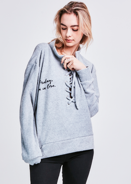 Friday I'm In Love Pullover (Rain Cloud Grey)