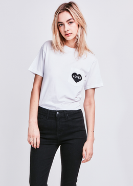 Lover Pocket T-shirt in White
