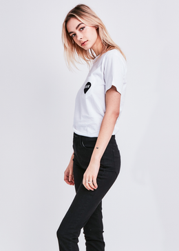 Lover Pocket T-shirt in White View 2