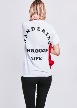 Life Wanderer Unisex Pocket T-shirt in White