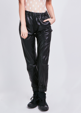Isla Leather Track Pants View 2