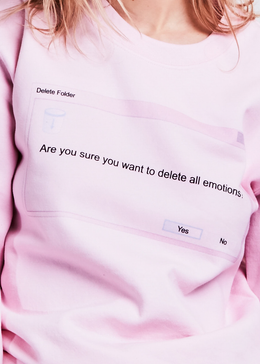 Delete All Emotions Crewneck