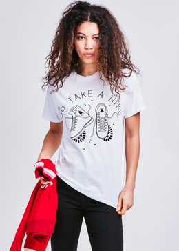 Take A Hike Unisex T-shirt in White