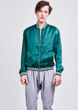 Boys Of New York Bomber Jacket in Emerald **Pre-Order** View 2
