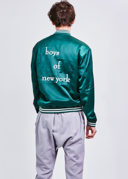 Boys Of New York Bomber Jacket in Emerald **Pre-Order**
