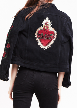 Heart of Roses Denim Jacket