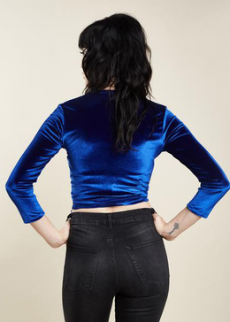 Itzel Ballerina Top In Blue View 2