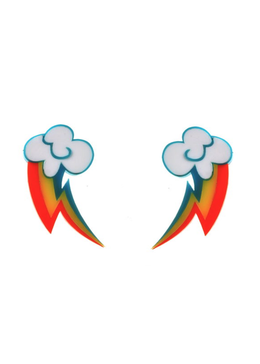 Rainbow Dash Cloud Cutie Earrings