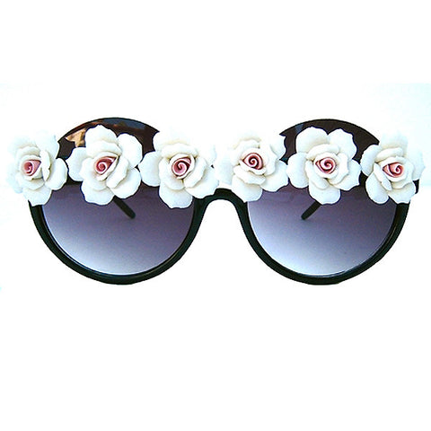 White Floral Sunnies LADY12K-4