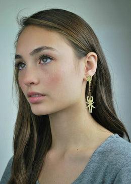Spider Web Drop Earrings View 2