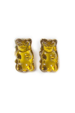 Yellow Gummy Bear Stud Earrings
