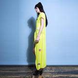 Neon Yellow Sequin Holidayz Dress