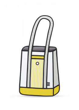 Yellow Stripe Tote Bag