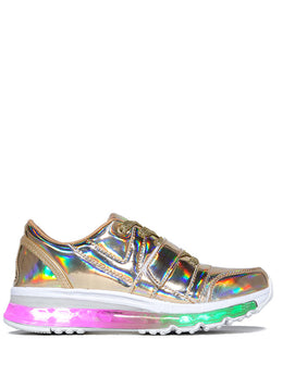 Aiire Light Up Sneakers in Gold