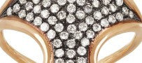 Diane Korkas 18K Gold and Diamond Shield Ring