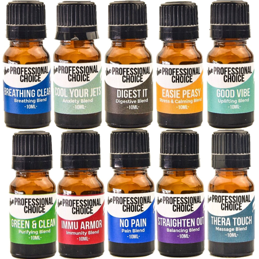 Essential Oil Blends Starter Set - The Professional Choice