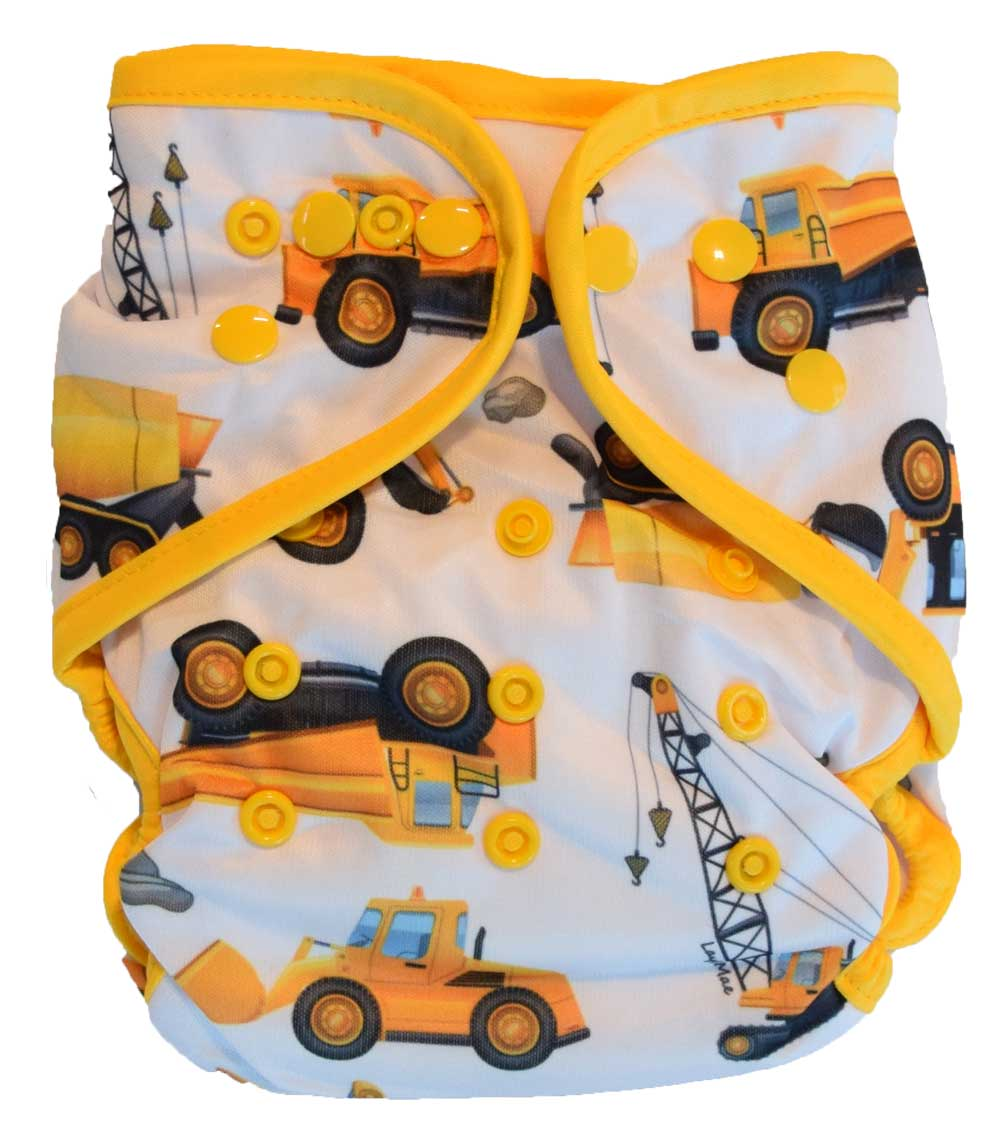 Layla Mae All in One Cloth Diapers One Size Adjustable AIO (Construction)