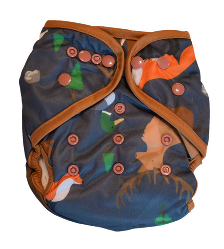 Layla Mae All in One Cloth Diapers One Size Adjustable AIO (Forest Animals)