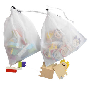 "Reusable Mesh Toy Storage / Produce Bags by RU BAG Large 12""x13"" 10 Pack"
