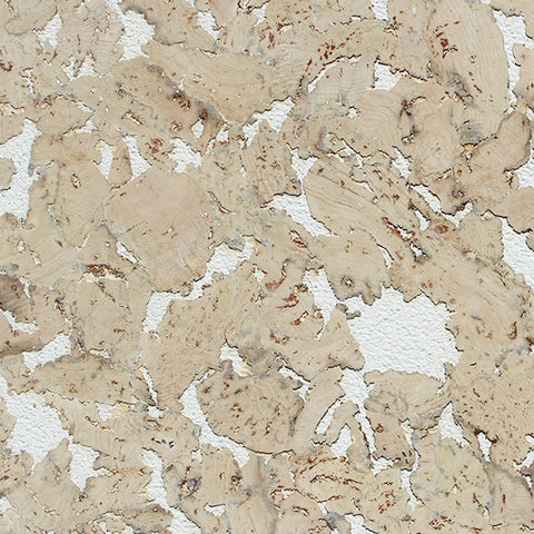 European White Cork Wall Tile