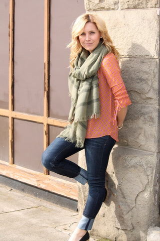 Stripe Of The Day Scarf In Green