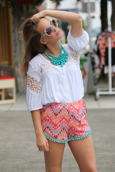 Tribal Pom Pom Shorts
