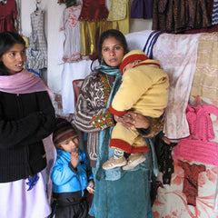 Meeting Rubina in Nowshera, Pakistan (Photo taken by Emma Presler)