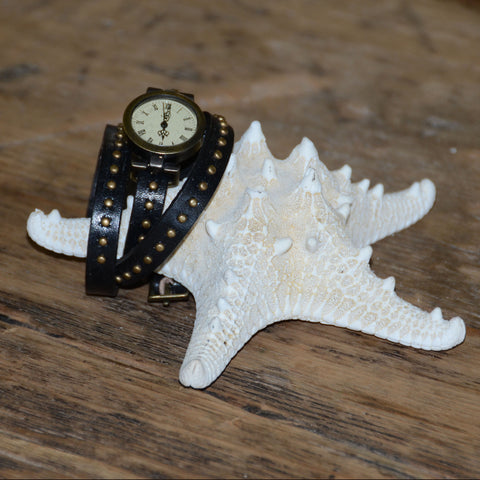 Studded Wrap Around Watch Bracelet