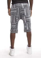 Tribal Print Ares Jogger Shorts