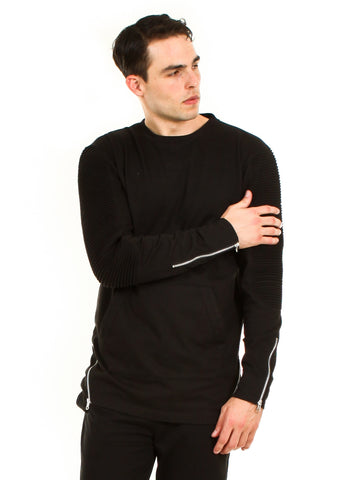 Moto French Terry Crew Neck