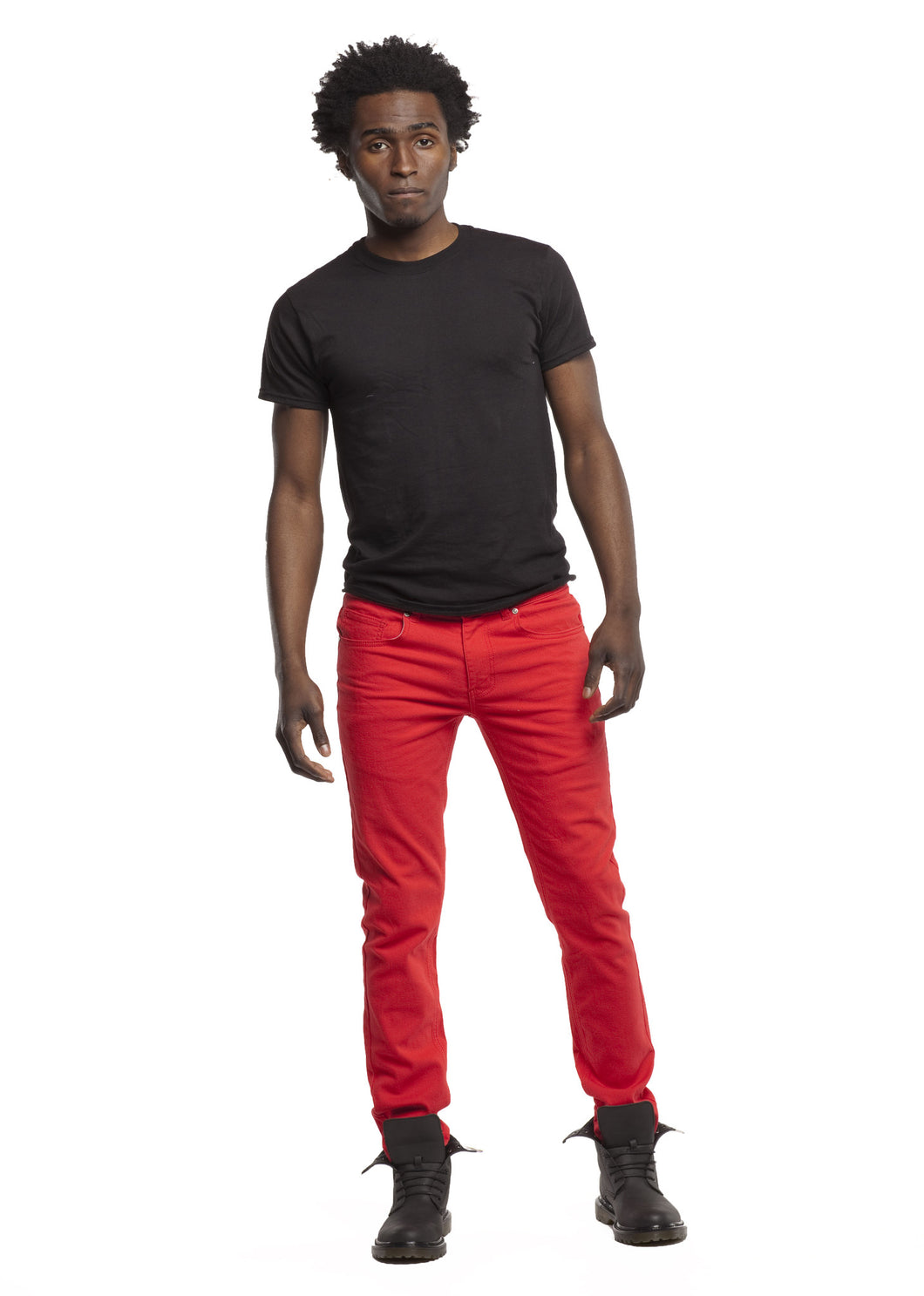 8183 Red, Men's Skinny Fit Stretch Jeans
