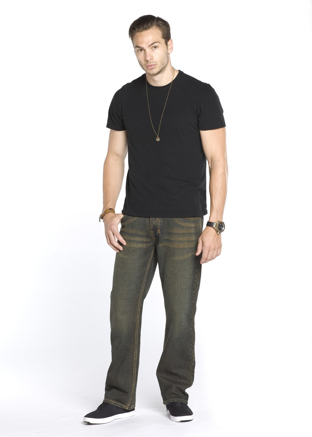 8208 Brown, Men's Straight Fit Denim Jeans