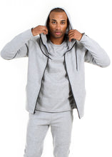 Load image into Gallery viewer, 87074 ZH Heather Gray, Men's Tech Fleece Zipup Hoodie
