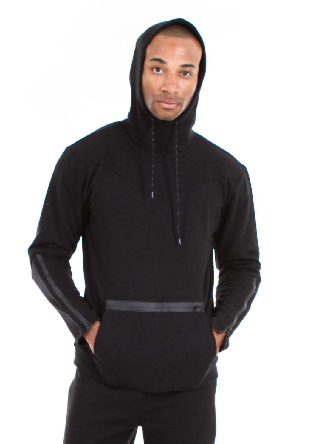 87074PH Black, Men's Tech Fleece Pullover Hoodie