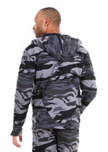 Load image into Gallery viewer, 87074ZH Black Camo, Men's Tech Fleece Zipup Hoodie
