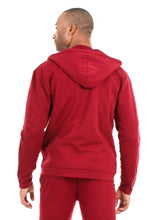 Load image into Gallery viewer, 87074ZH Burgundy, Men's Tech Fleece Zipup Hoodie