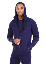 Load image into Gallery viewer, 87074ZH Navy, Men's Tech Fleece Zipup Hoodie