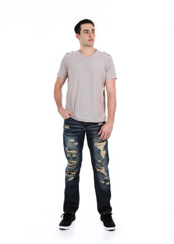 Slim Ripped Dark Wash Jeans