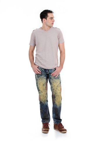 Slim Rainbow Acid Wash Jeans