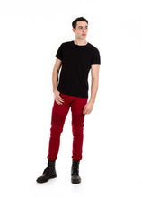 Load image into Gallery viewer, 89086SK Burgundy, Men's Moto Twill Skinny Fit Pants