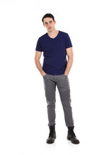 Load image into Gallery viewer, 89086SK Charcoal, Men's Moto Twill Skinny Fit Pants