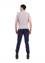 Load image into Gallery viewer, 89086SK Navy, Men's Moto Twill Skinny Fit Pants