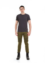 Load image into Gallery viewer, 89086SK Olive, Men's Moto Twill Skinny Fit Pants