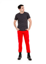 Load image into Gallery viewer, 89086SK Red, Men's Moto Twill Skinny Fit Pants