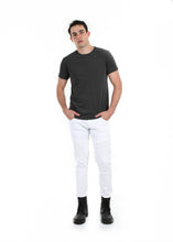 Load image into Gallery viewer, 89086SK White, Men's Moto Twill Skinny Fit Pants