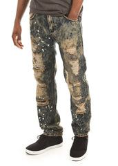 Smokey Wash Distressed Jeans