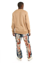 Load image into Gallery viewer, D7PT1081 Painted Wash, Men's Paint Splatter Jeans