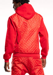 Men's Quilted Fleece Hoodie