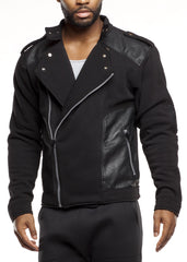 Men's Fleece Biker Jacket
