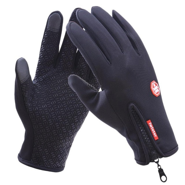 Women Men Cycling Gloves Snowboard Gloves Motorcycle Riding Winter Touch Screen Snow Waterproof Glove M/L/XL Free Shipping - KOM Cycles